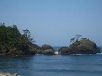 国定公園の越前松島(宿から歩いて5分)