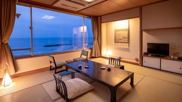 【全室海側】源泉風呂+和室10畳+和室6畳〜特別室〜
