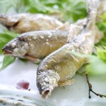 鮎の藻塩焼き