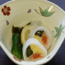 サーモン菜の花水晶巻