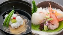 「旬菜ダイニング  白樺」椀物・造里(一例)