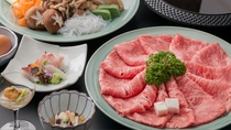 「旬菜ダイニング  白樺」すき焼き