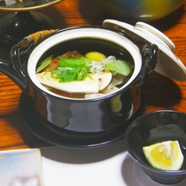 *夕食一例【松茸の土瓶蒸し】