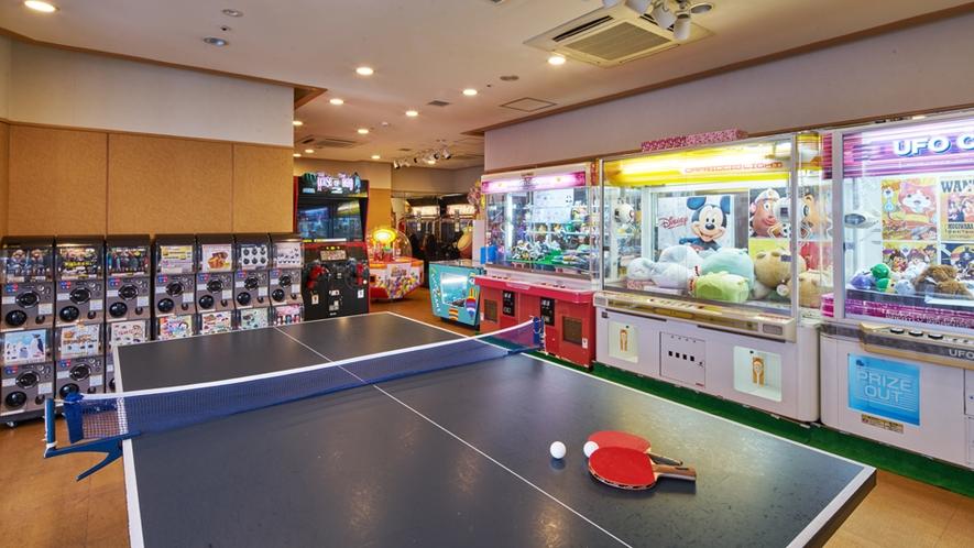 卓球もお楽しみ頂けるゲームコーナー