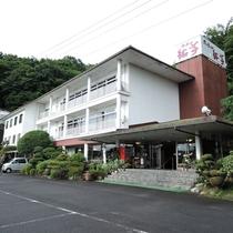 *【外観】久慈川の畔にあるグルメなホテルへようこそ!