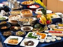 ご朝食例 料理長厳選のやまがた食材を使ったバラエティ豊かなバイキングまたは銘々のお膳です