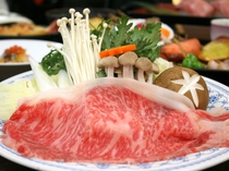 メイン料理は山形県産牛すき焼き♪