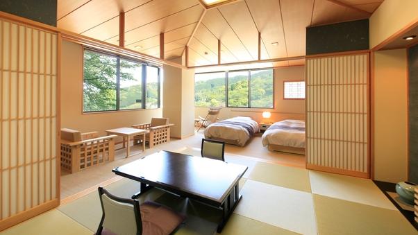 【特別室】和室&ベッドルーム 海と山が見える角部屋