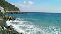 熱川ビーチの景色