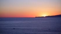 朝焼けの大島(お部屋からの眺め)