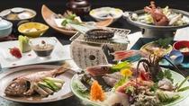 ☆お刺身満喫!地魚姿盛りと伊勢海老、鮑の踊り焼き、金目鯛姿煮付 和食プラン ※プラン料理イメージ