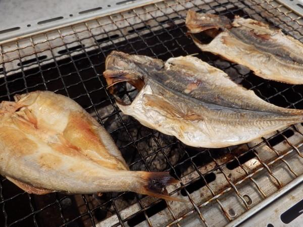 【朝食】伊豆の朝食といえば・・やっぱり干物!沼津から直送の鯵や鮎の干物をご用意♪