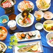 *夕食一例(アップグレード)/山海の幸をたっぷりとご堪能いただけます。