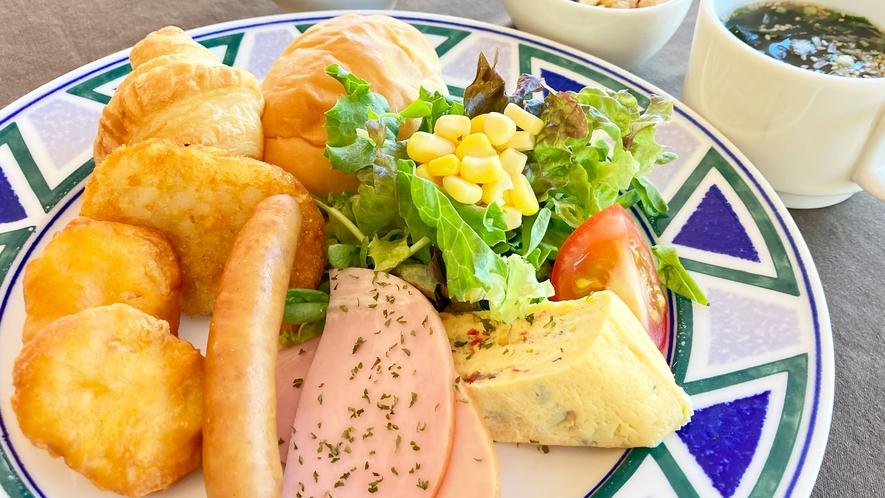 【朝食一例】朝食プレート洋食サンプル