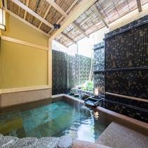 個性あふれる3種の露天風呂の一つ「岩露天風呂」