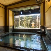 2016年リニューアル大浴場「黒御影座敷風呂」