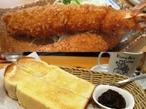 近隣飲食店/えびフライ・小倉トースト(フロントでご案内いたします)