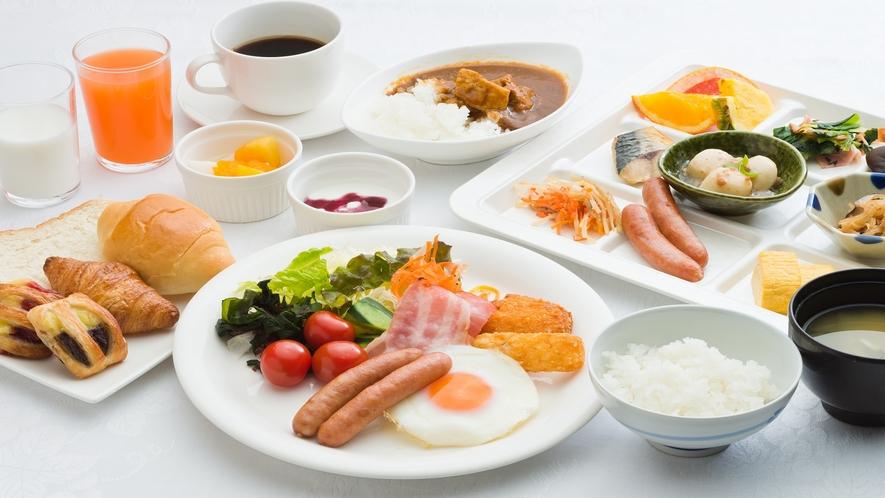 朝食・オールスター盛り付け一例
