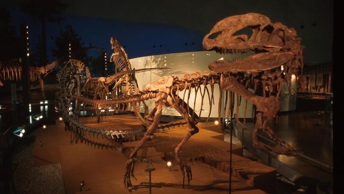 【さき楽】1泊2食◆14日前までのご予約でお得♪当館からお車で約10分「恐竜博物館」常設展チケット付