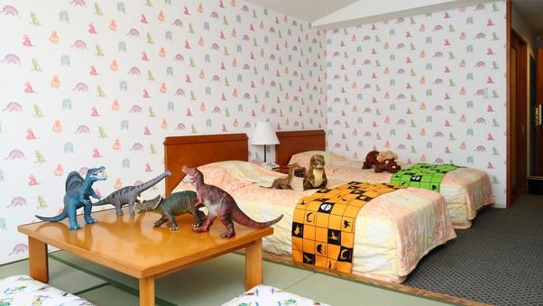 【禁煙】お子様に大人気!恐竜ルーム(ツインベッド+6畳)