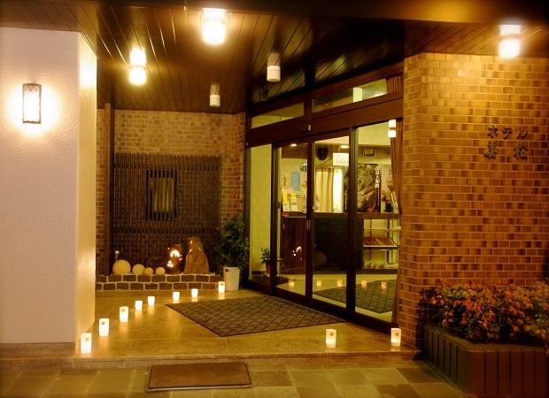 玄関前の燈花会