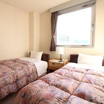 ★ツインルーム★97cm幅ベッドが2台、観光旅行に最適♪