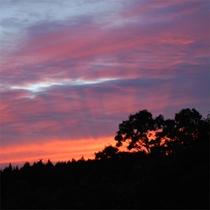 久住高原の夕景