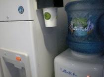 1F設置 無料天然水(四国剣山)と製氷機