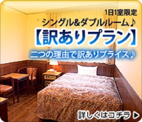 1日1室限定【訳あり】シングル&ダブルルーム(1階)