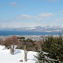 ラウンジからの冬景色