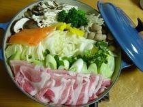 三元豚の蒸しゃぶ鍋