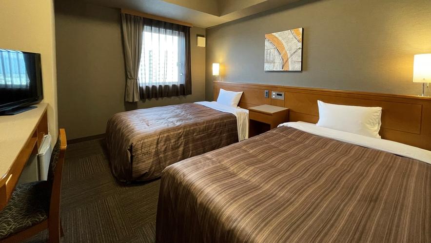 【ツインルーム】ベッド幅115cm 広さ18平米
