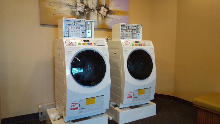 【コインランドリー(リラクゼーションルーム内)】洗剤は機械から自動で投入されます