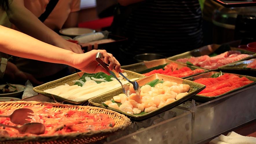 【食事】海鮮丼(ブッフェ)