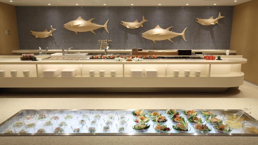 【食事】魚コーナー(ブッフェ)
