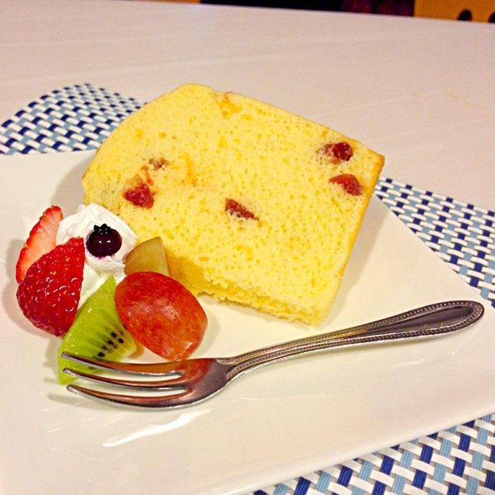 【デザート】デザートは毎日手作りです*シフォンケーキ