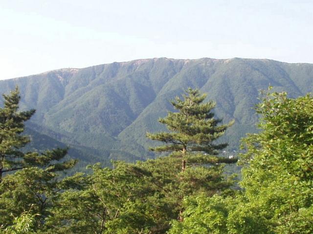 明神ヶ岳は金時山から続いて連なっています。