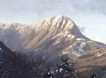 雪の朝の金時山