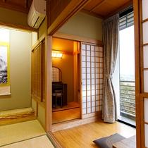 【茅ヶ岳側】12.5畳和室(広縁付)