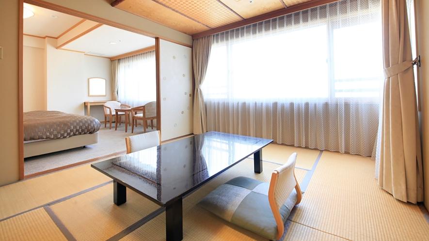 【客室】市街地側和洋室(一例)
