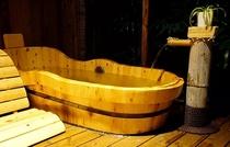 露天風呂付き客室(一人用桶風呂)
