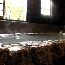 【家族風呂】外観は情緒ある石風呂で温泉を独り占めしてください!