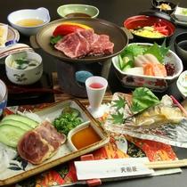 【和牛&地鶏】の陶板焼き付き季節の会席料理