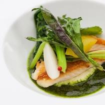 レストランハピナ(近海魚のポワレ/料理一例)