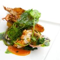 レストランハピナ(セミエビのグリル/料理一例)