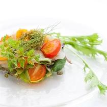 レストランハピナ(地場鮮魚のカルパッチョ/料理一例)