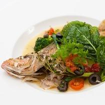 レストランハピナ(地場鮮魚のアクアパッツァ/料理一例)