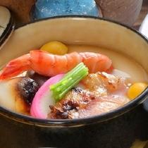 郷土料理の朝倉蒸し雑煮