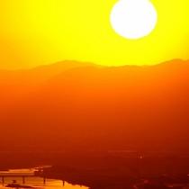 筑後平野の夕日