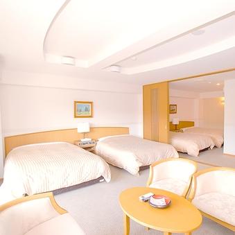 【禁煙】洋洋室 4ベッド(Wベッド×3 Sベッド×1)
